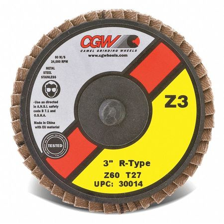 "CGW 30012 3"" T27 Zirconia Reg Roll On 40G"