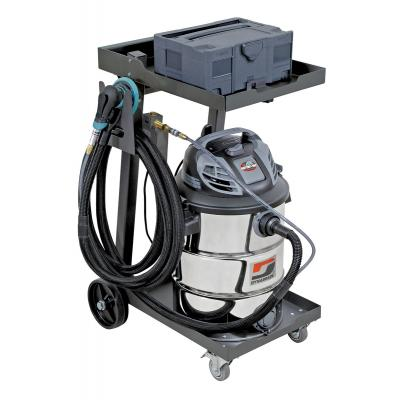 Dynabrade 10049 Mini Raptor Vac, Pro-Pack, Mobile Industrial Vacuum System Wet/Dry Collection, 16 Gallon, 120v, Made in USA (Vacuum, Cart, Tool, Hose, Storage, Auto on/off)