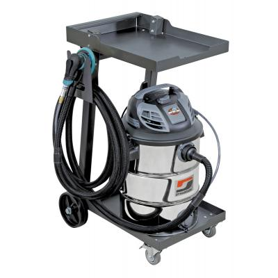 Dynabrade 10050 Mini Raptor Vac, Enhanced-Pack, Mobile Industrial Vacuum System Wet/Dry Collection, 16 Gallon, 120v, Made in USA (Vacuum, Cart, Tool, Hose)