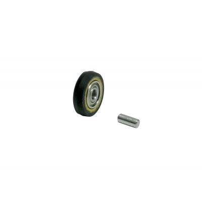 "Dynabrade 11074 Contact Wheel Ass'y, 5/8"" Dia. x 1/8"" W x 3/8"" I.D., Crown Face, 70 Duro Rubber"
