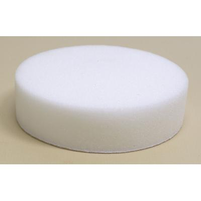 "Dynabrade 90038 3"" (76 mm) Dia. Polishing Pad, Foam, Flat Face Reattachable Hook-Face Backing, Polishing/White"