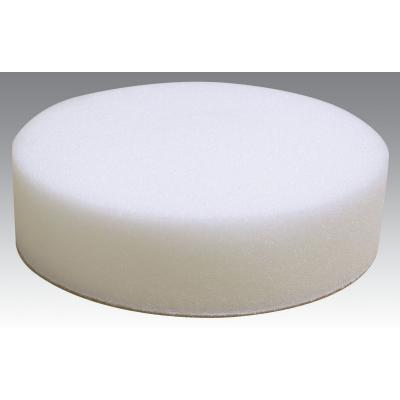 "Dynabrade 90047 6"" (152 mm) Dia. Polishing Pad, Foam, Flat Face Reattachable Hook-Face Backing, Polishing/White"