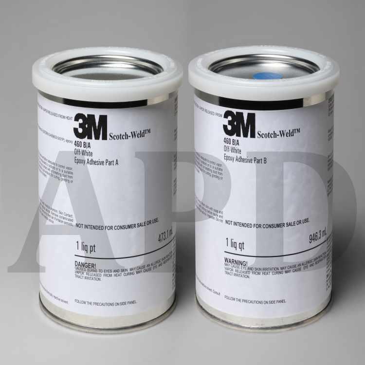 3M Scotch-Weld Epoxy Adhesive 460, Off-White, Part B/A, 1 Quart Kit, 6/case
