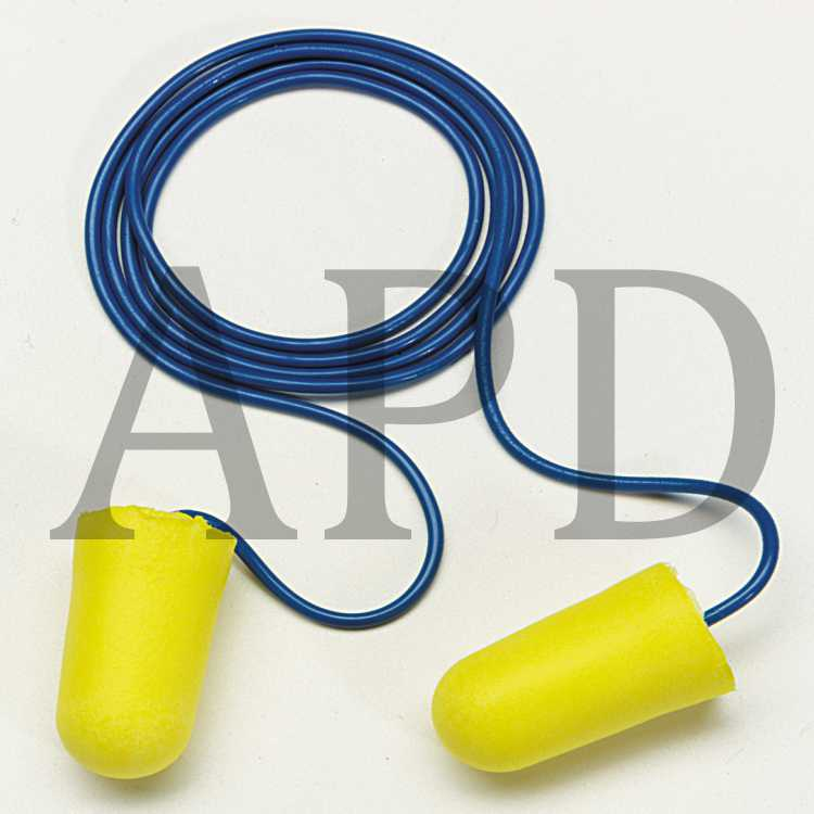 3M E-A-R TaperFit 2 Regular Corded Earplugs Hearing Conservation 312-1223