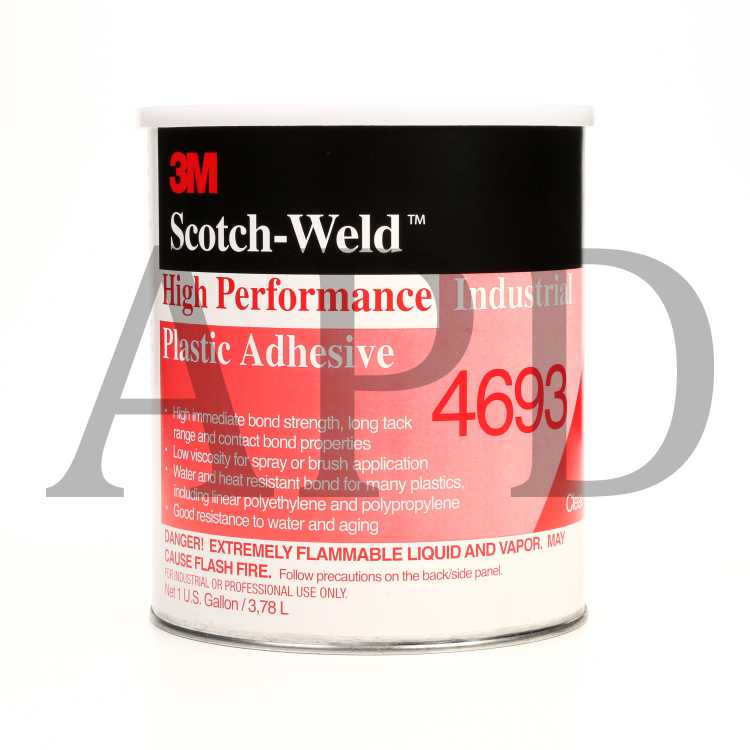 3M 7000121218 Neoprene Contact Adhesive 10 Light Yellow, 5 gal Pail