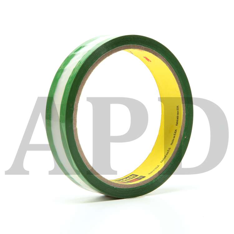 1 in x 36 yd 3M™ Riveters Tape 685 Transparent with Green Adhesive