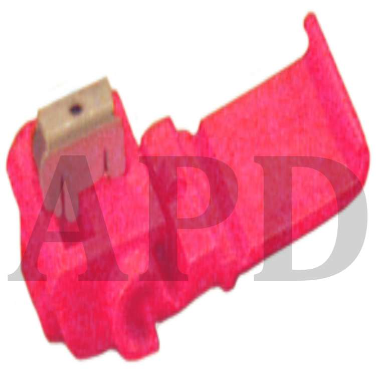 100 per pouch 3M TM Self-Stripping Red Pigtail Scotchlok 22-16 AWG Electrical IDC 557-BOX Moisture Resistant and Flame Retardant TM