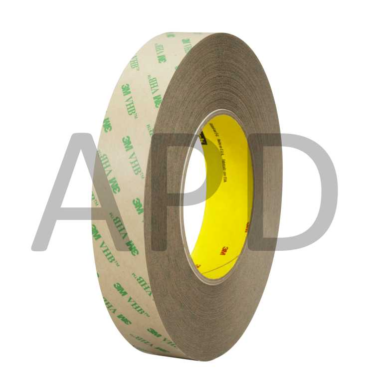 3M Adhesive Transfer Tape 9472 Clear Pack of 1 12 in x 180 yd 5.0 mil