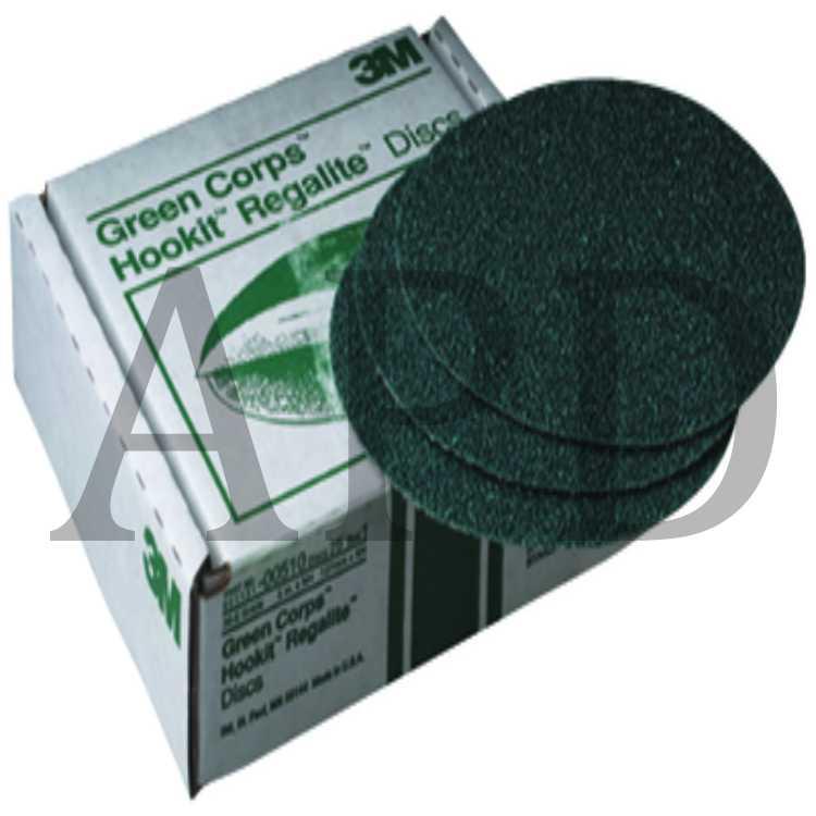 3M Green Corps Hookit Regalite Disc 40 grade 8 in 00524 25 discs per carton