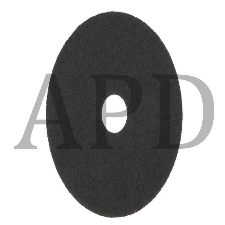 3M Black Stripper Pad 7200 Case of 5 15 Floor Care Pad