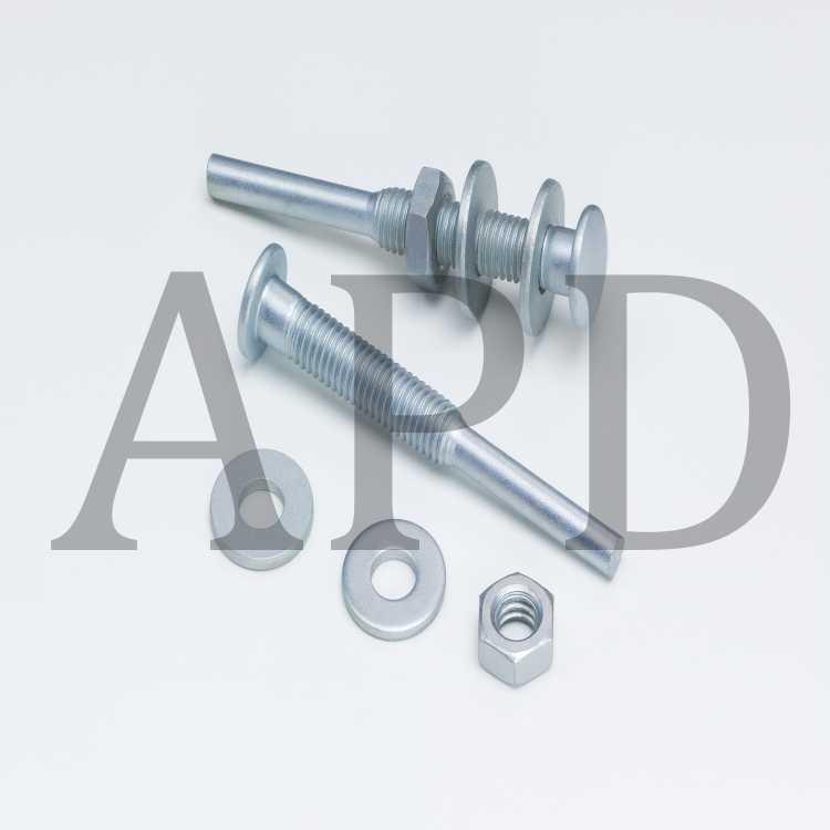 "5 2-1//2/"" x 1//4/"" x 3-48 TM-2 Standard Abrasive Cartridge Roll Mandrel 703946"