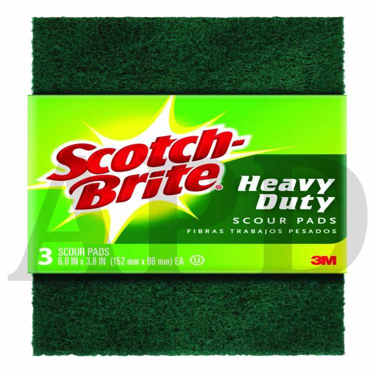 Scotch Brite Heavy Duty Scour Pad 223 7 6 0 In X 3 8 In 3 Pk 7 Cs
