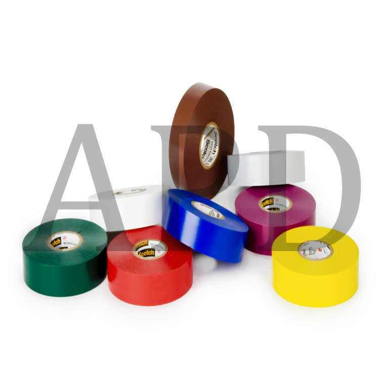 """Tape general purpose electrical tape 3//4/"""" x 66 Ft 10 rolls multicolor"""