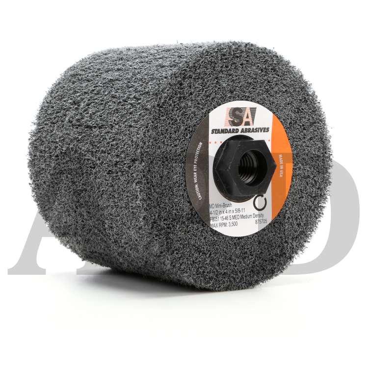 A//O CRS High Strength Mini-Brush 4-1//2 x 4 x 5//8-11 Ext Thread 2 Units Standard Abrasives 875700