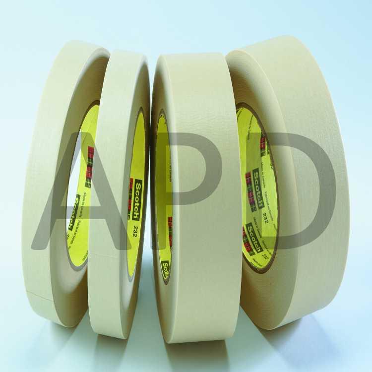 Tan - Pack of 8 232 96 mm x 55 m Scotch High Performance Masking Tape
