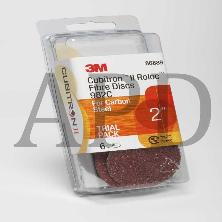3 in 1 Trial Pack 3M Cubitron II Roloc Fiber Disc Trial Pack TR 987C