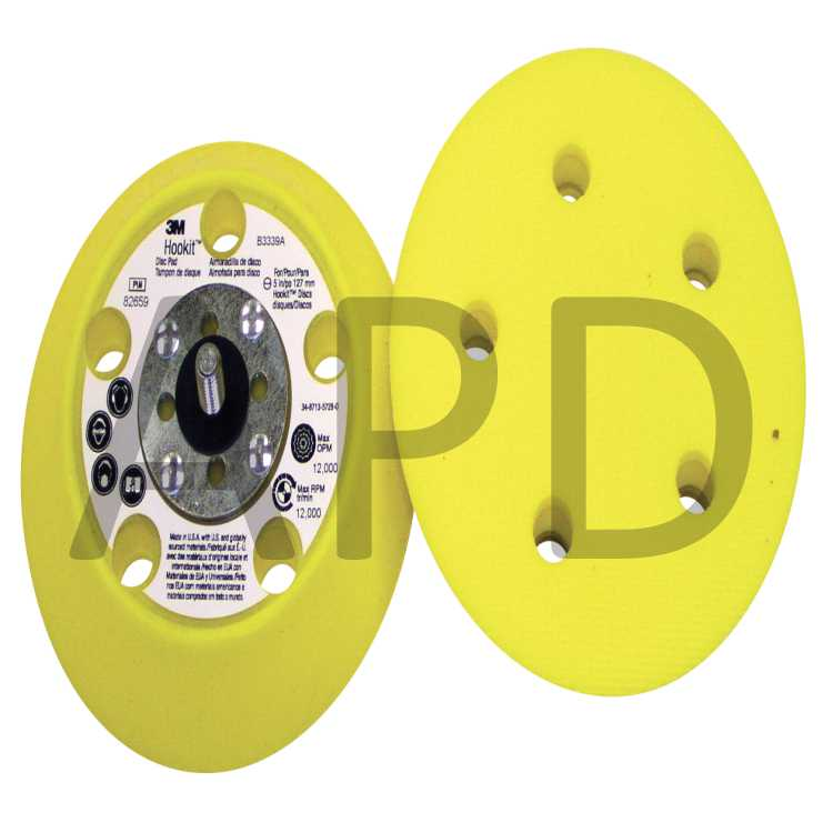 3M Disc Pad Face Plate Ribbed 80514 Pack of 10 7 Diameter
