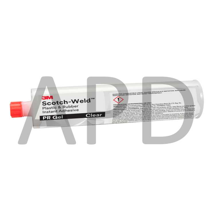 3M Scotch-Weld Plastic & Rubber Instant Adhesive PR Gel, Clear, 300 Gram  Cartridge, 12/case