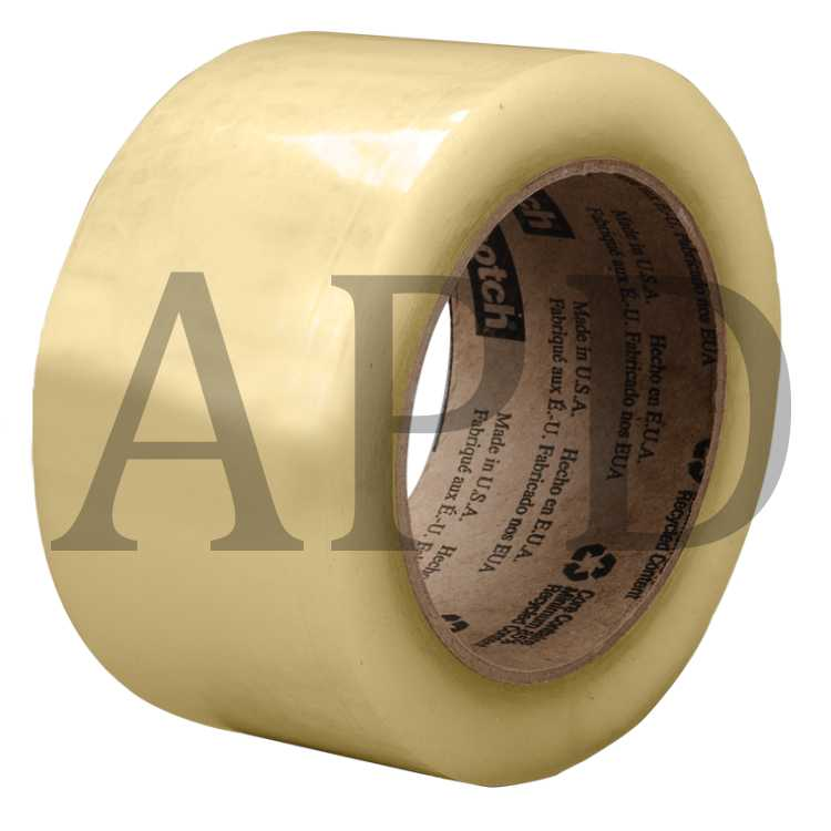 Case of 24 Scotch Recycled Corrugate Tape 3073 Clear 72 mm x 100 m // 24 Rolls