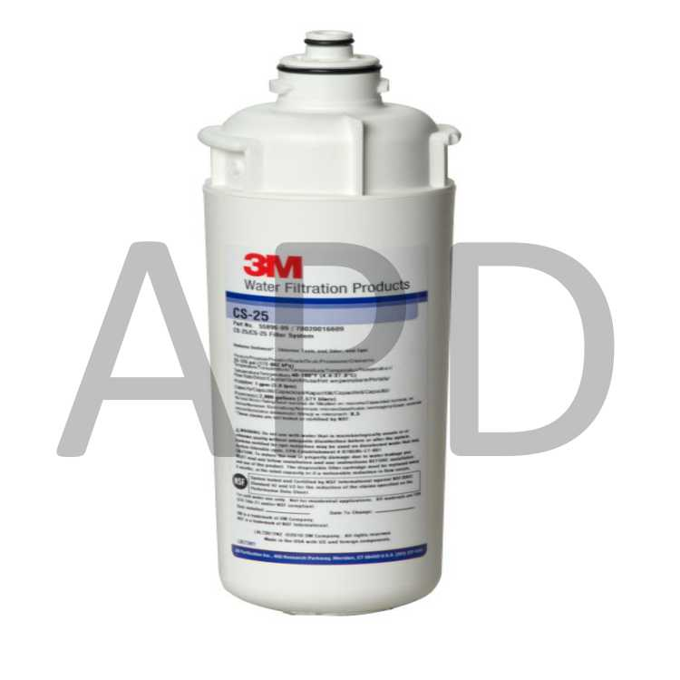 5631904 3M Commercial Water Filter Cartridge CFS8720-S 12 Per Case