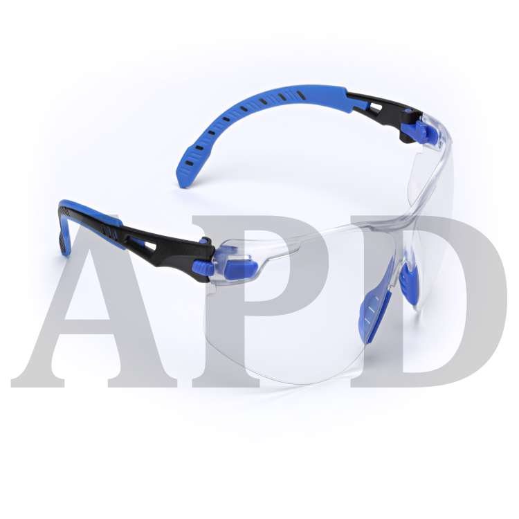 3M 7100079183 3M Solus 1000-Series Safety Glasses S1101SGAF, Black Blue,  Clear Scotchgard Anti-Fog Lens, ... e7dd50c90015