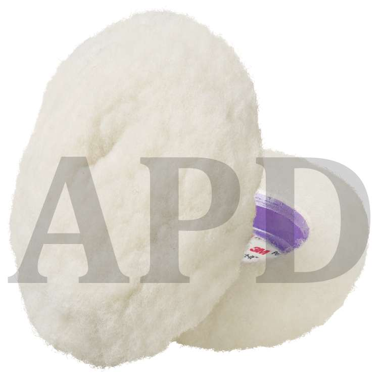 3M 33281 9 Single Sided Wool Compounding Pad 1 Pack