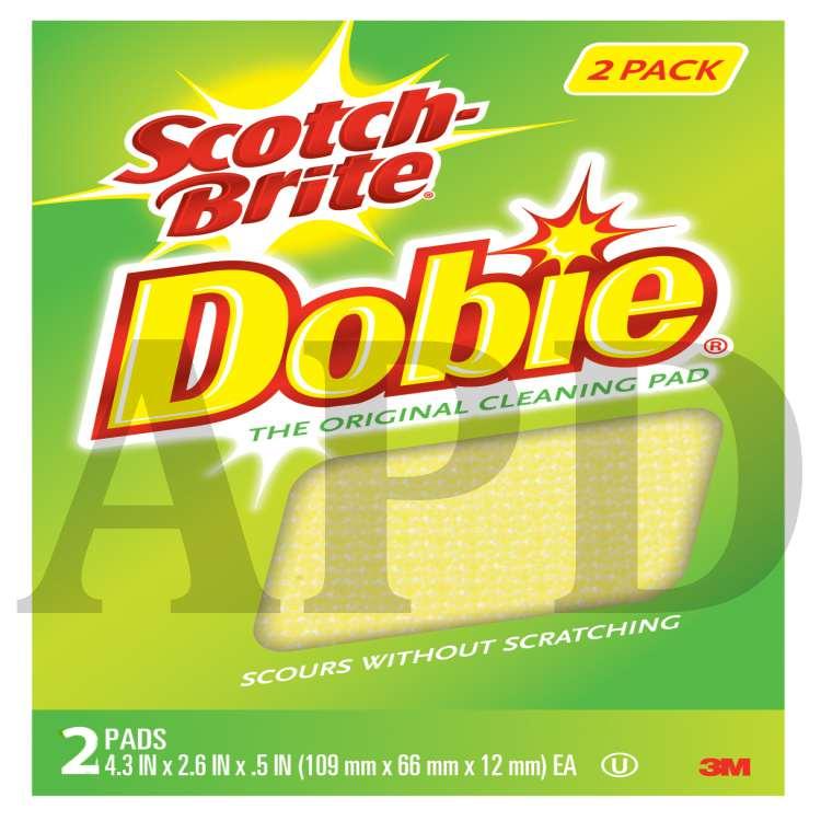 3M 722 Scotch-Brite Dobie Cleaning Pad 2-Pack