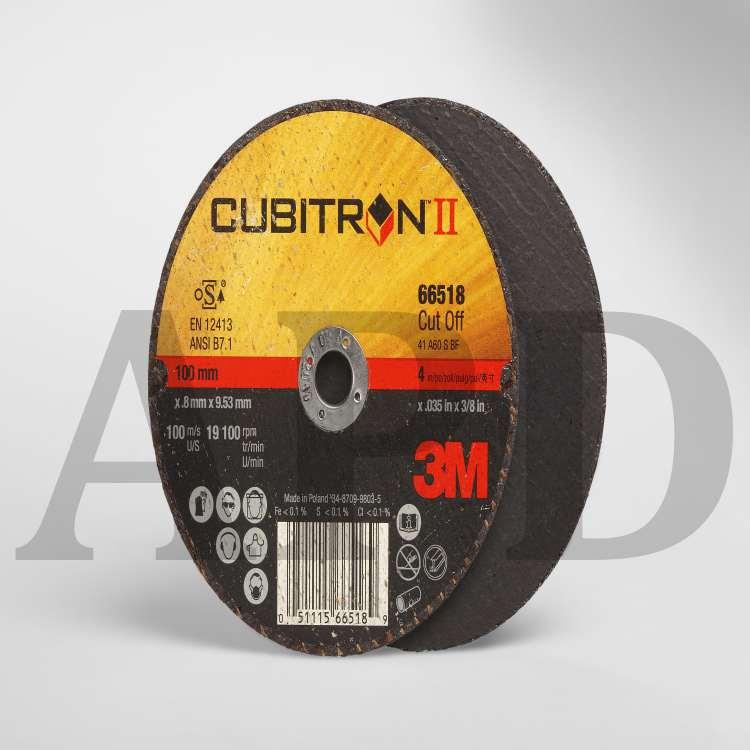"""3M Cubitron II 66518 4/"""" X .035/"""" X 3//8/"""" Cut-Off Wheel Type 01 5 Wheel"""