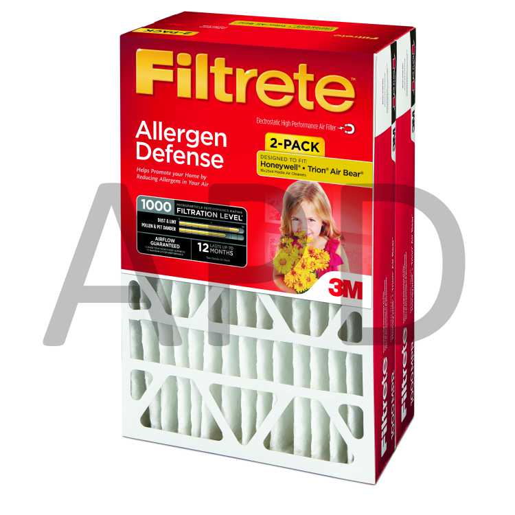 Micro Allergen Pleated 2//Pack Filtrete 9801-2PK-HDW Reduction Filter Electrostatic