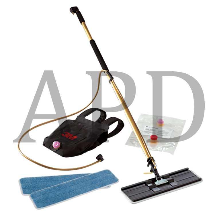 3M Scotch-Brite Professional 2-in-1 Flat Mop /& Backpack Finish Applicator Kit