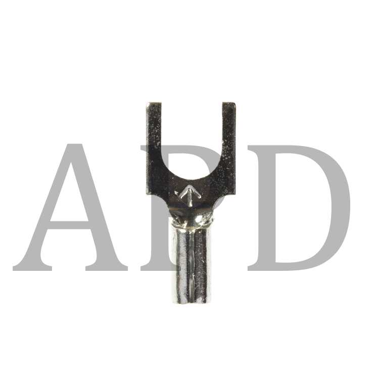 3M Highland Vinyl Insulated Block Fork Terminal BFV14-6Q AWG 16-14 suitable for use in a terminal block